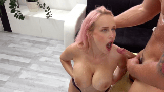 Big tits babe Angel Wicky gets soaking wet